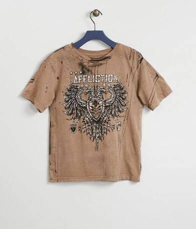 Boys - Affliction Value Chalkboard T-Shirt