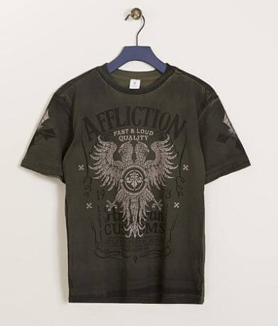 Boys -Affliction American Customs Tried T-Shirt