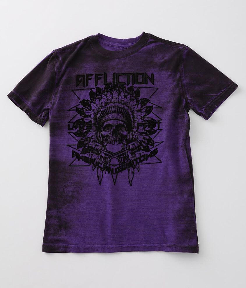 Boys - Affliction Copperhead T-Shirt front view