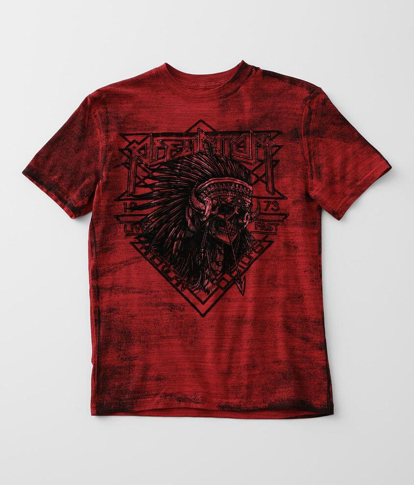 Boys - Affliction Stone & Steel T-Shirt front view