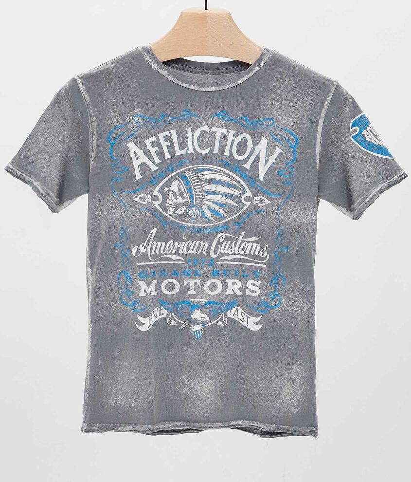 Boys - Affliction Prohibition T-Shirt front view