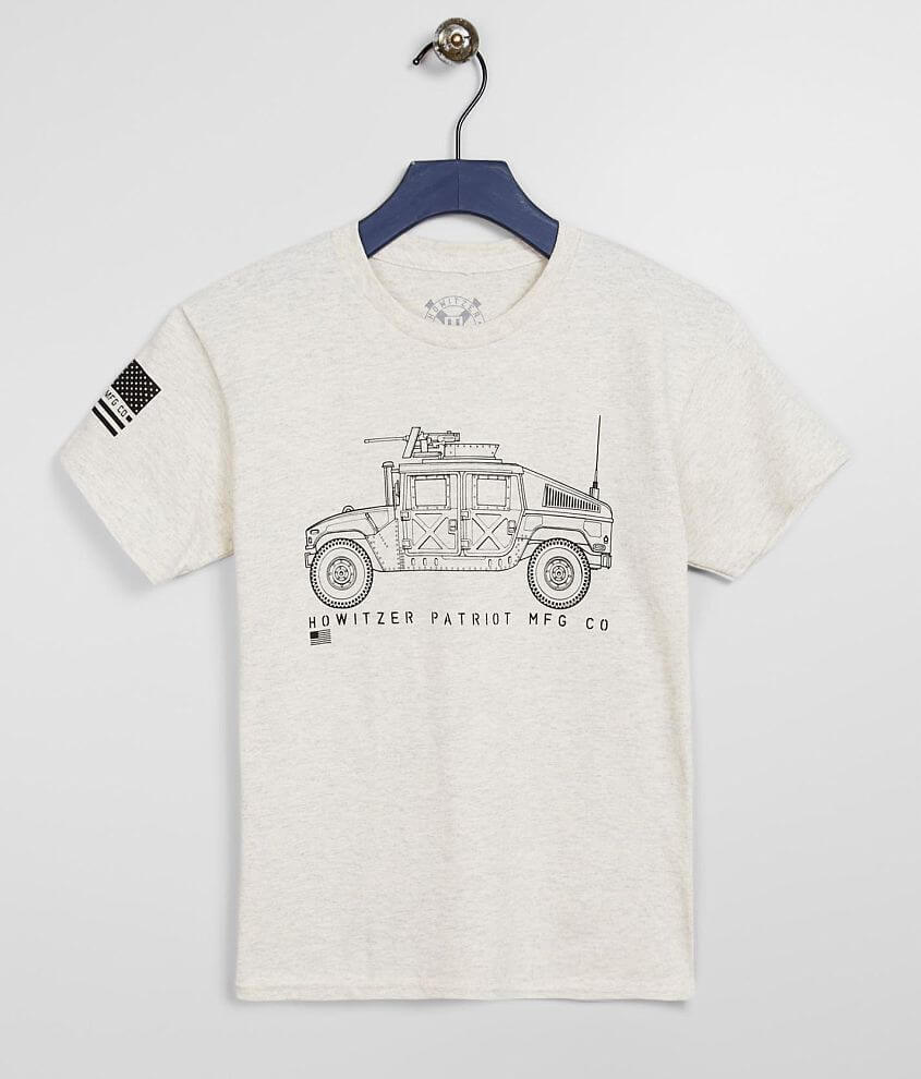 Graphic heathered t-shirt Sleeve hit 5% of Howitzer\\\'s proceeds from the sale of this garment goes to benefit the heroes that sacrifice to protect us