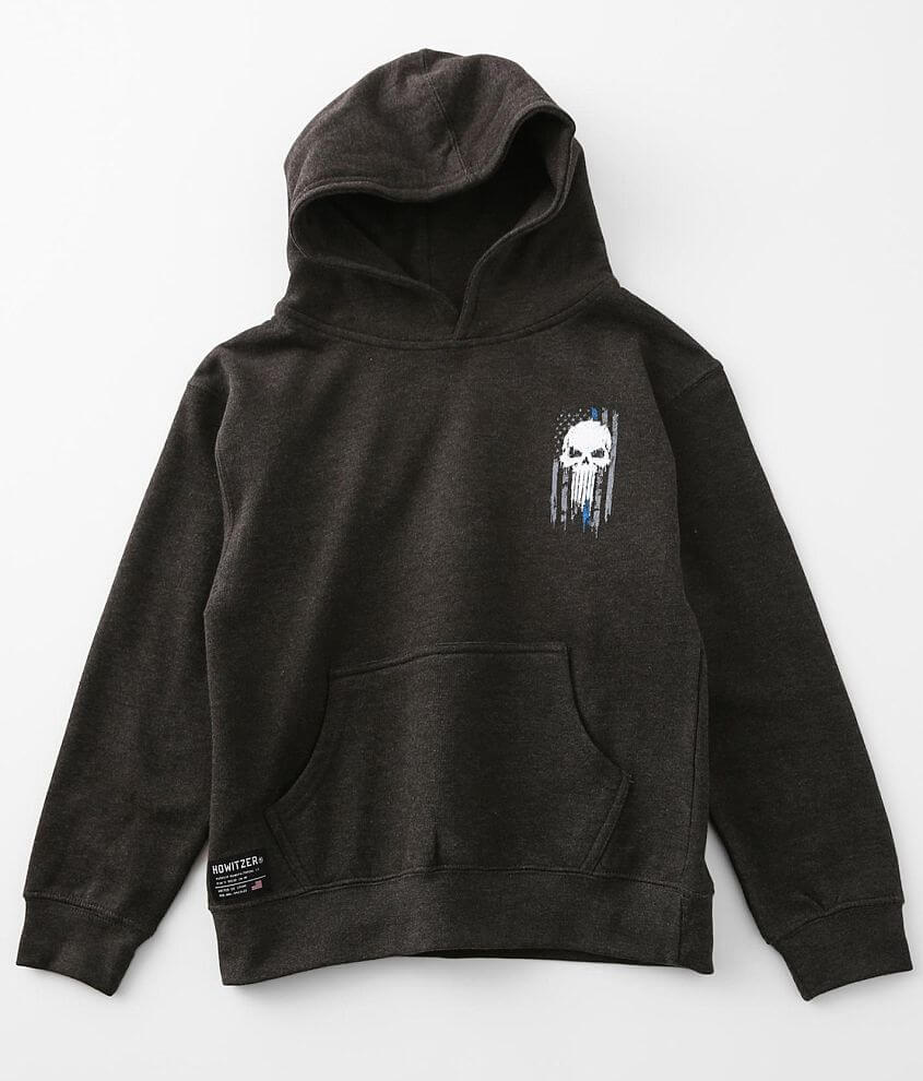 Boys - Howitzer Back The Blue Hooded Sweatshirt front view