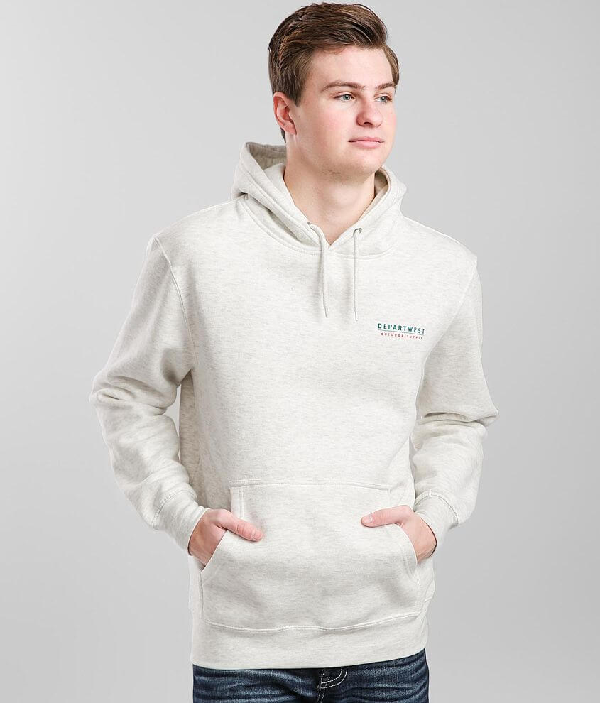 Departwest Stain Glass Mountain Hooded Sweatshirt front view