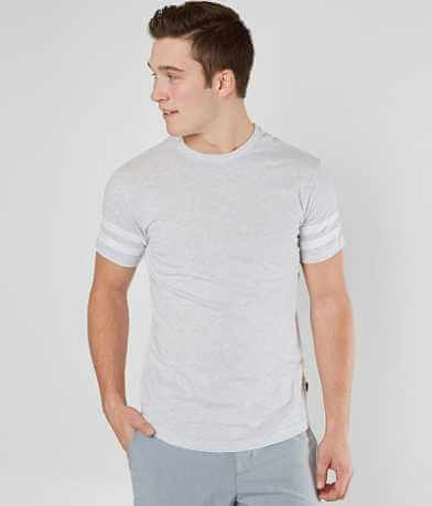 Veece Basic Stripe Elongated T-Shirt