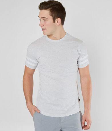 Veece Basic Stripe Elongated T-Shirt