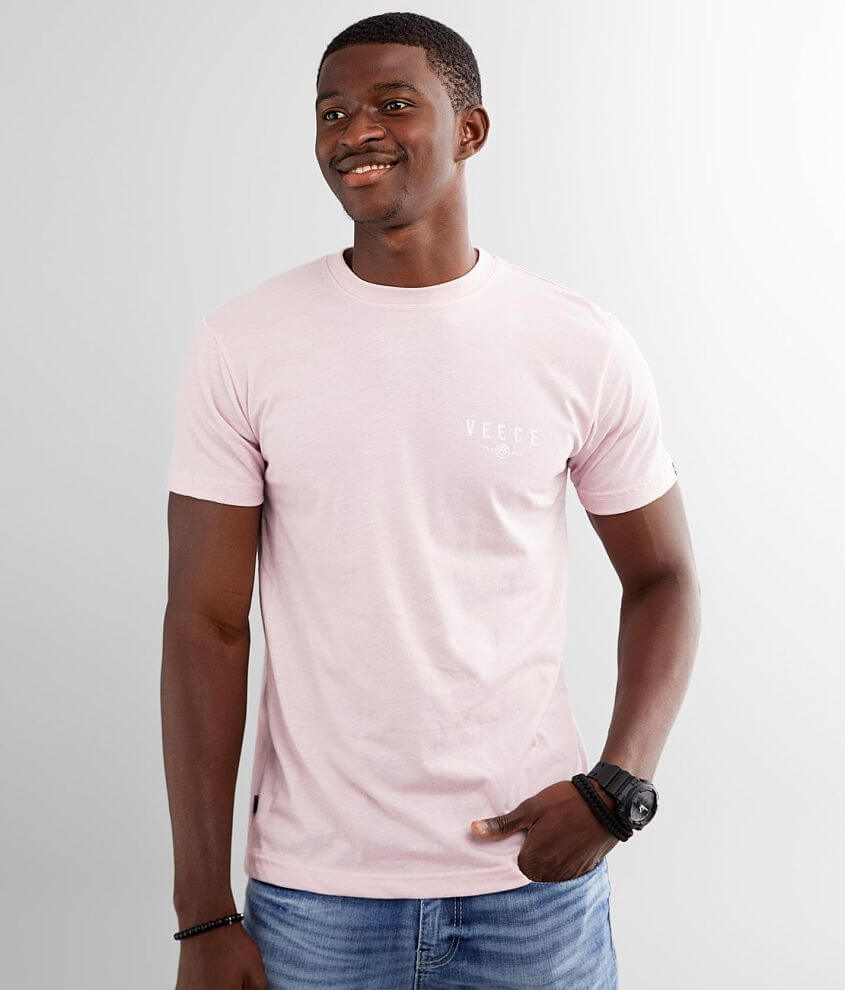 Veece Two Tone Oil Stain T-Shirt front view