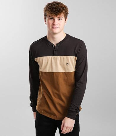 Veece Color Block Henley T-Shirt