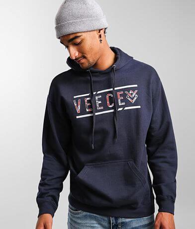 Veece Broken Lines Hooded Sweatshirt