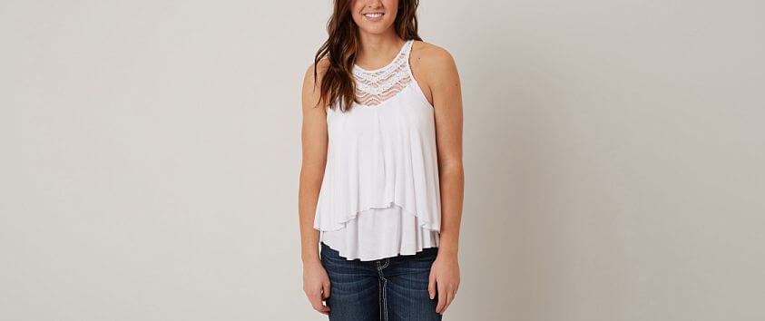 Daytrip High Neck Tank Top front view