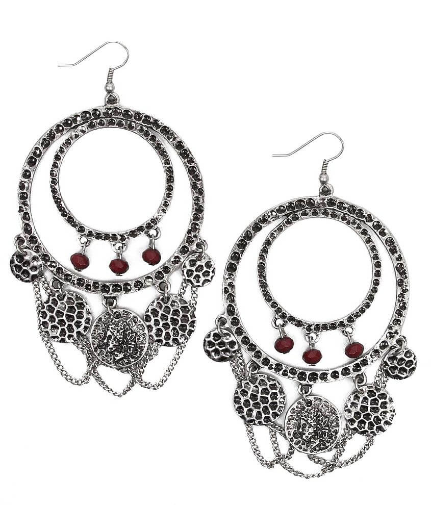 BKE Embossed Earring front view