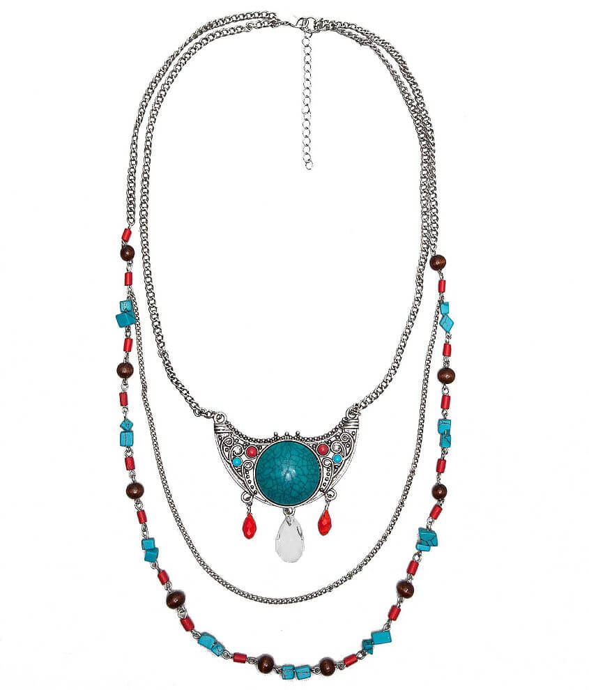 BKE Chunky Stone Necklace front view
