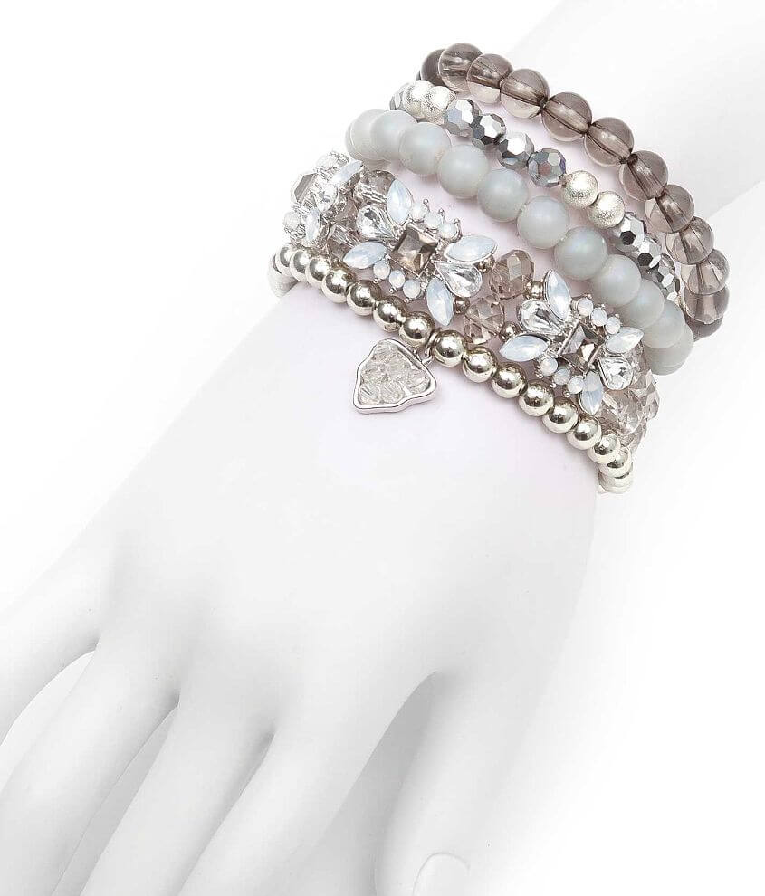 BKE Mixed Bead Bracelet Set front view