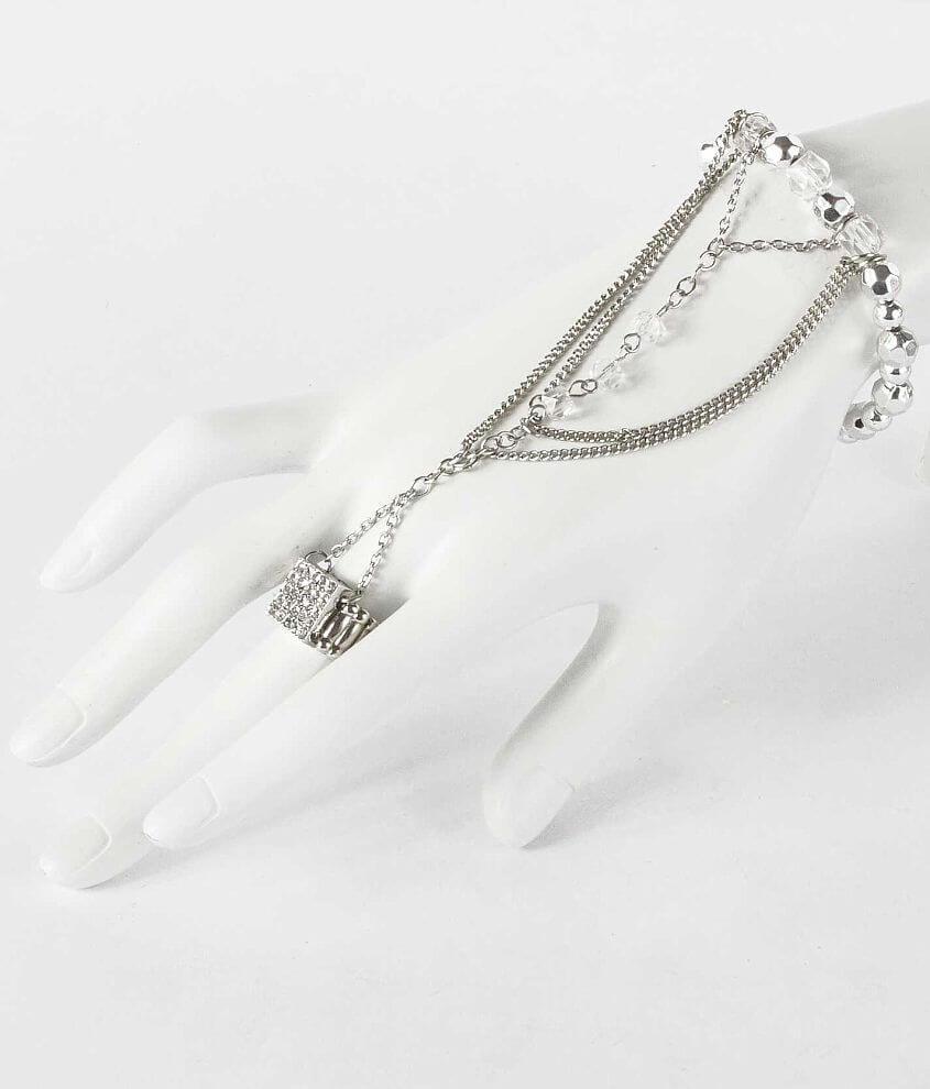 BKE Bead & Rhinestone Hand Jewelry front view