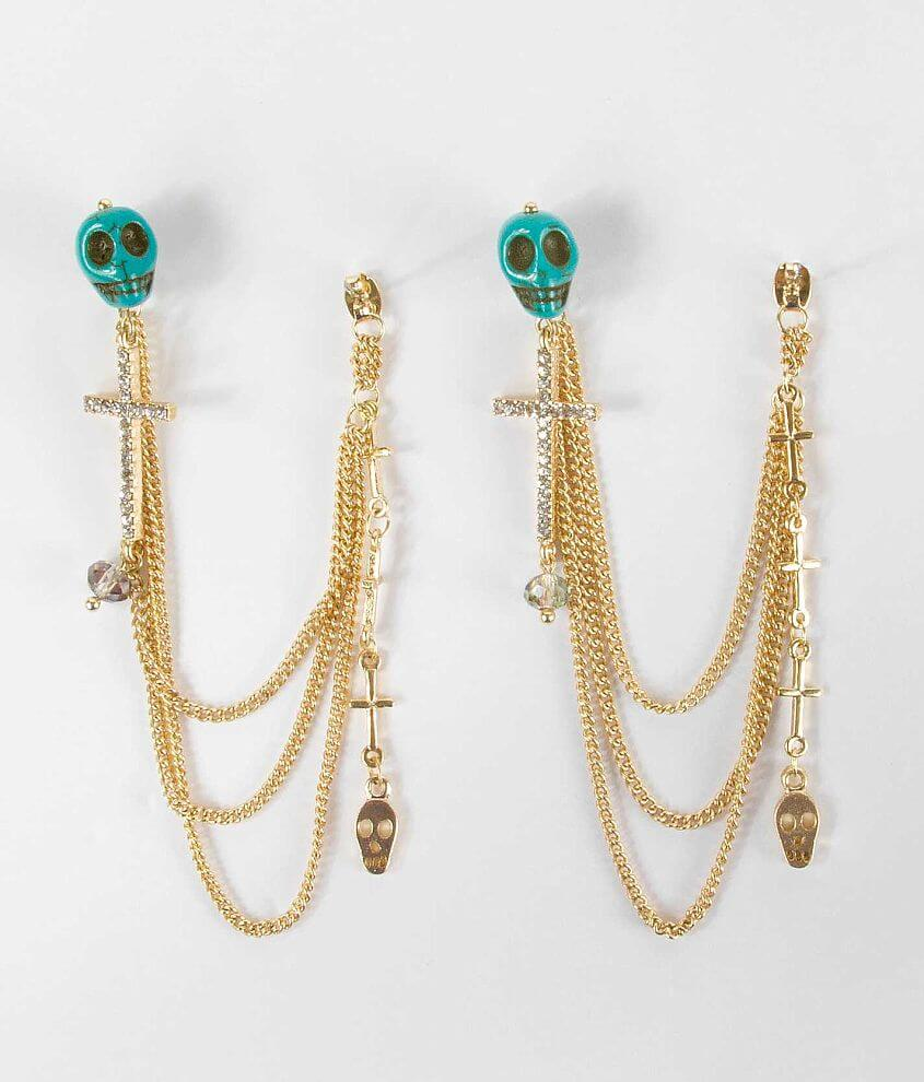 BKE Mixed Chain Earring front view
