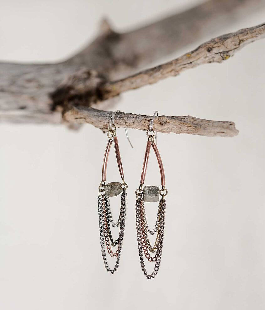 Gimmicks by BKE Chain Earring front view