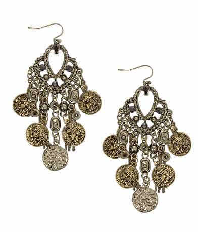 Festive Coin Chandelier Earring
