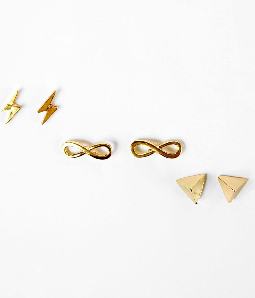 Daytrip Stud Earring Set front view