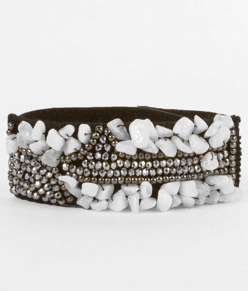 BKE Beaded Cuff Bracelet front view
