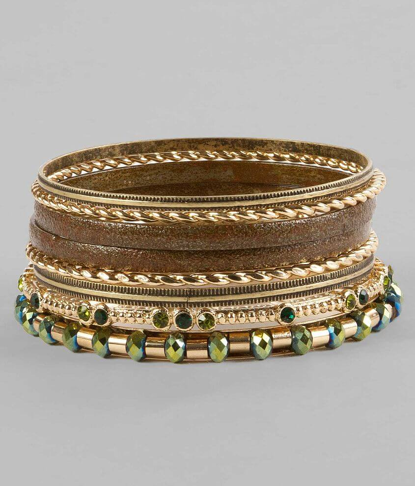 BKE Mixed Bangle Bracelet Set front view