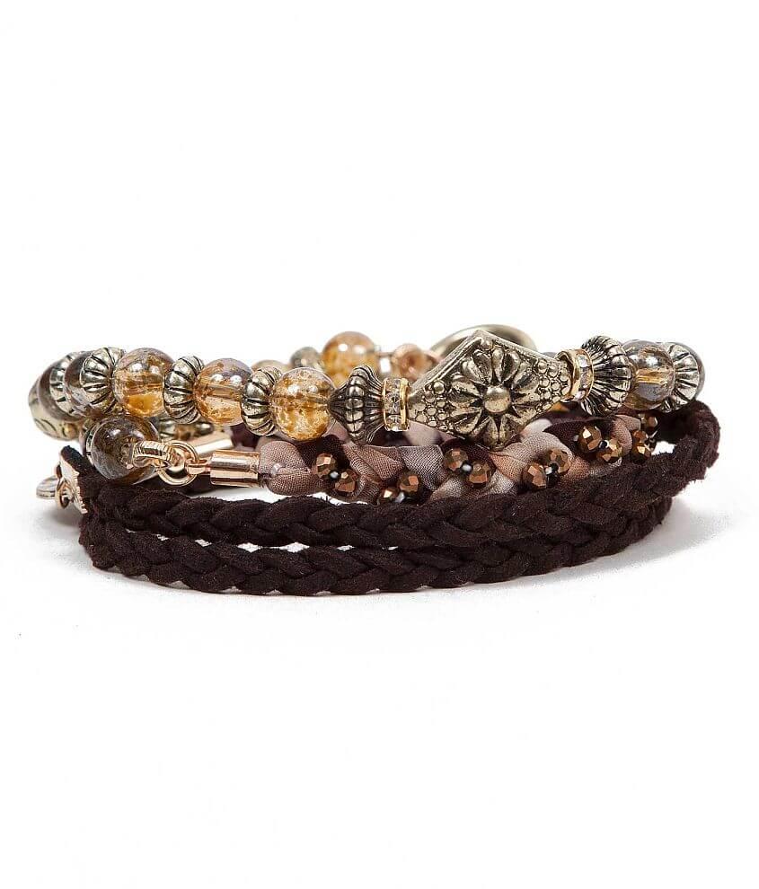 BKE Braided Wrap Bracelet front view