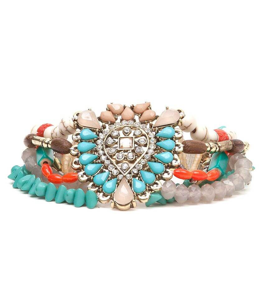 BKE Mixed Bead Bracelet front view