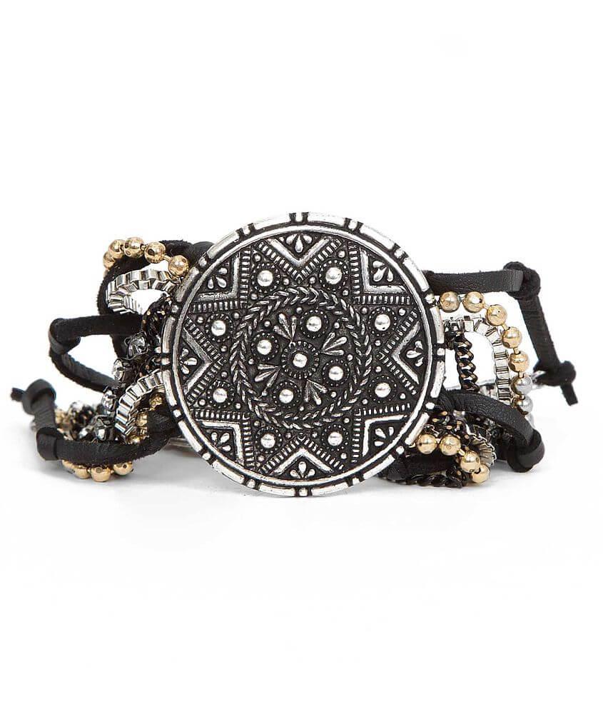 Festive Engraved Bracelet front view