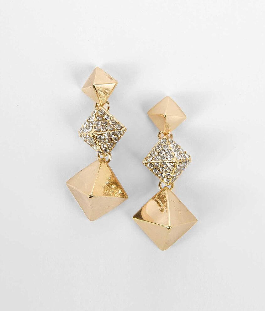 BKE Pyramid Earring front view