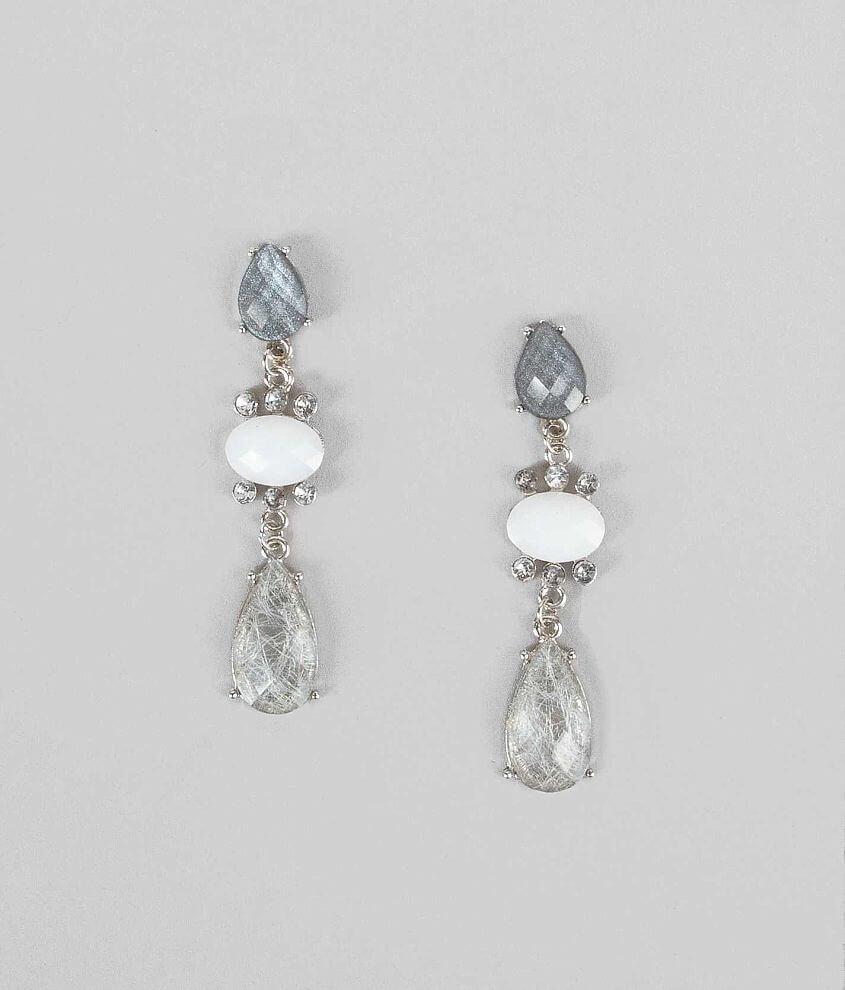 BKE Glitter Stone Earring front view