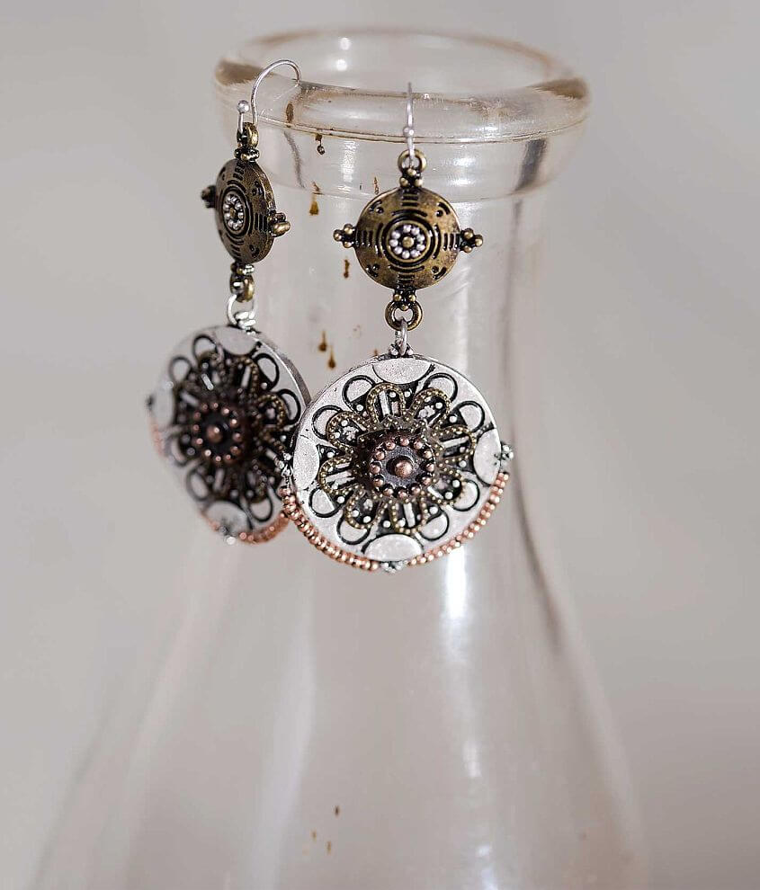 Gimmicks by BKE Engraved Earring front view
