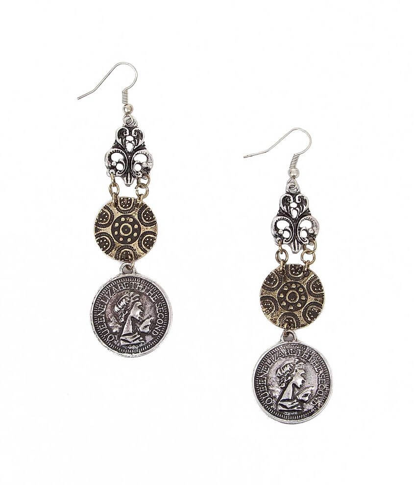 Festive Coin Earring front view