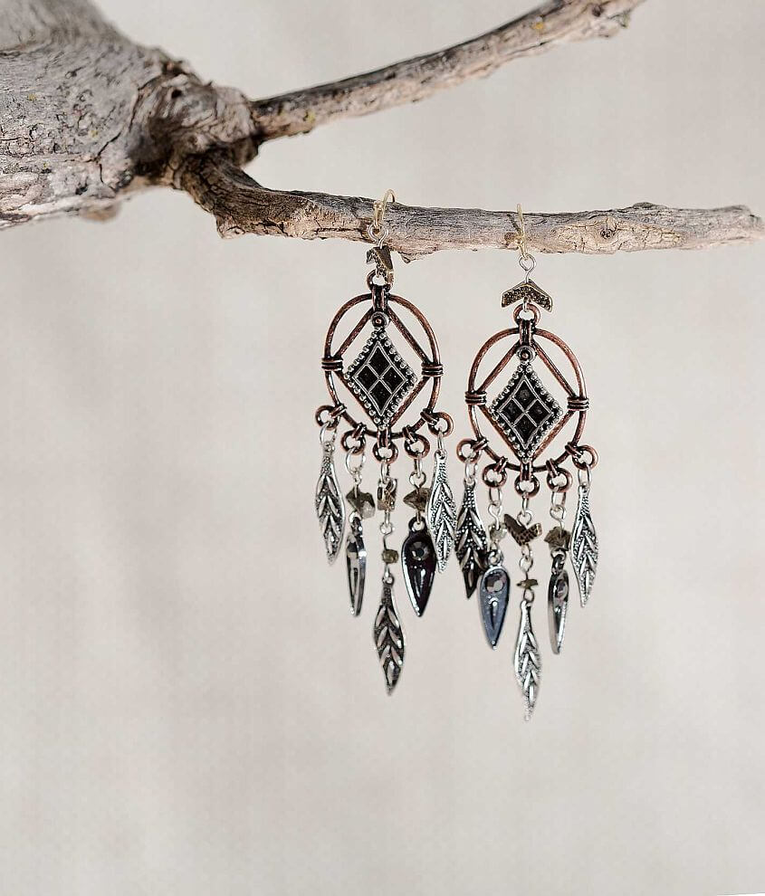 Gimmicks by BKE Embossed Earring front view