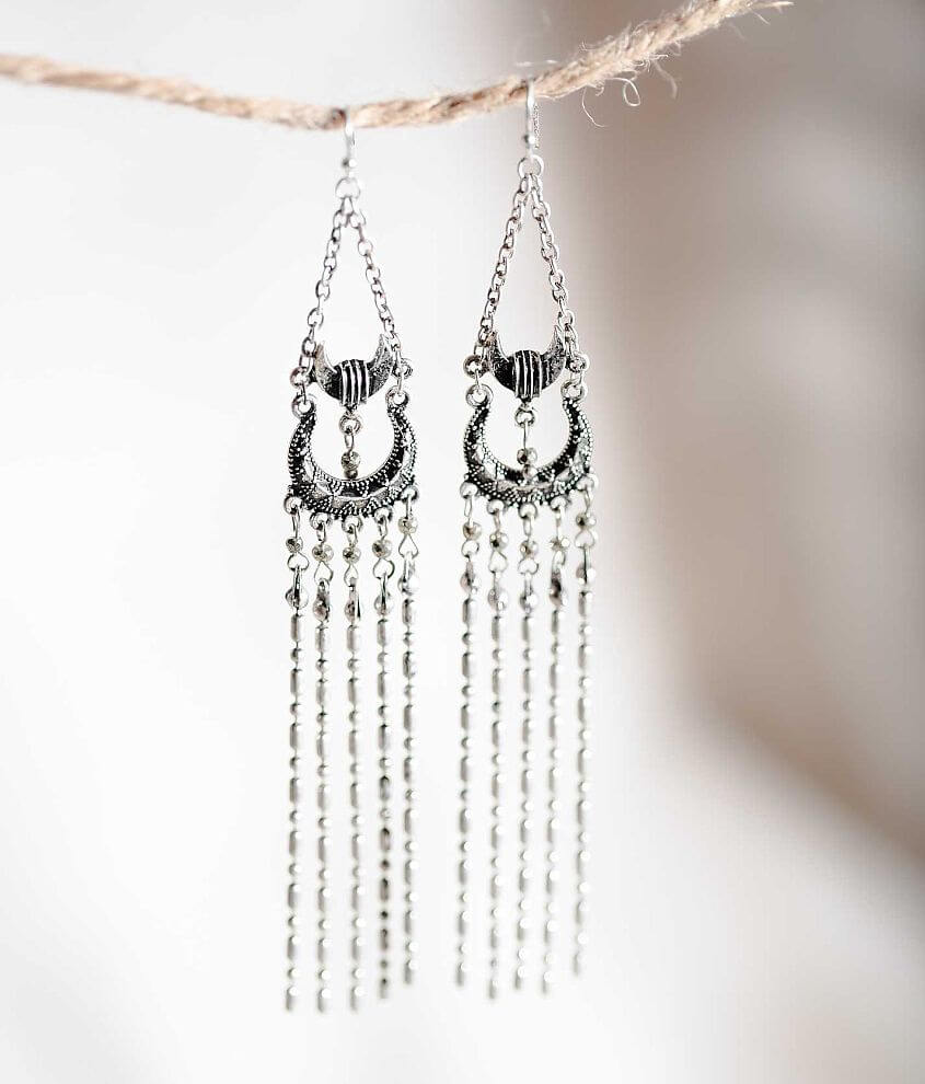 Gimmicks by BKE Fringe Earring front view