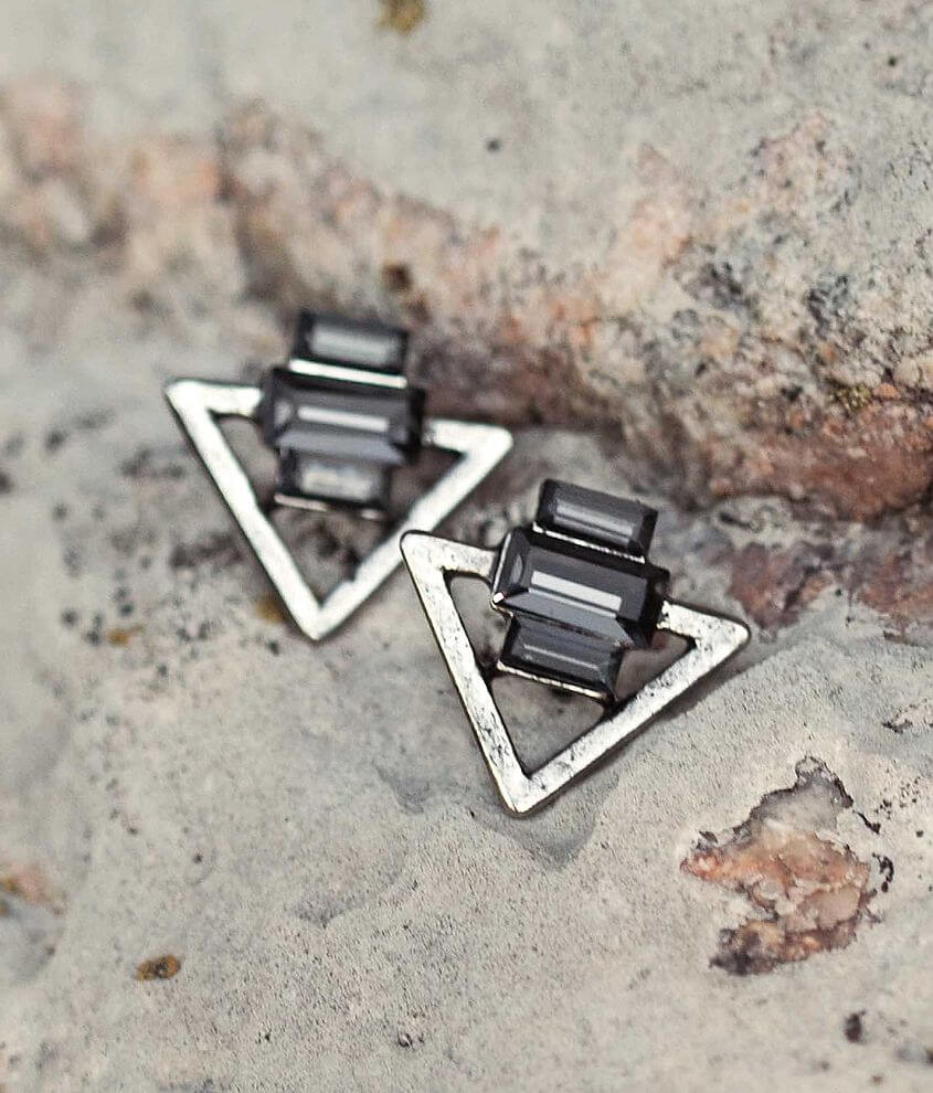 Festive Triangle Earring front view