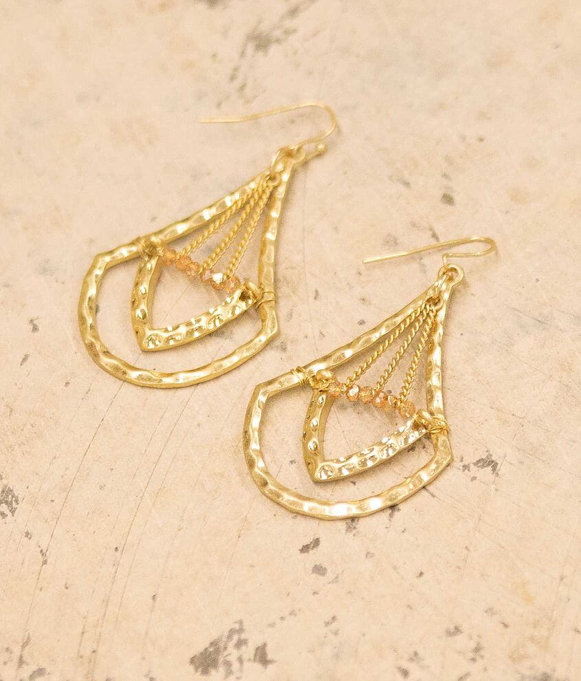 BKE Hammered Earring front view