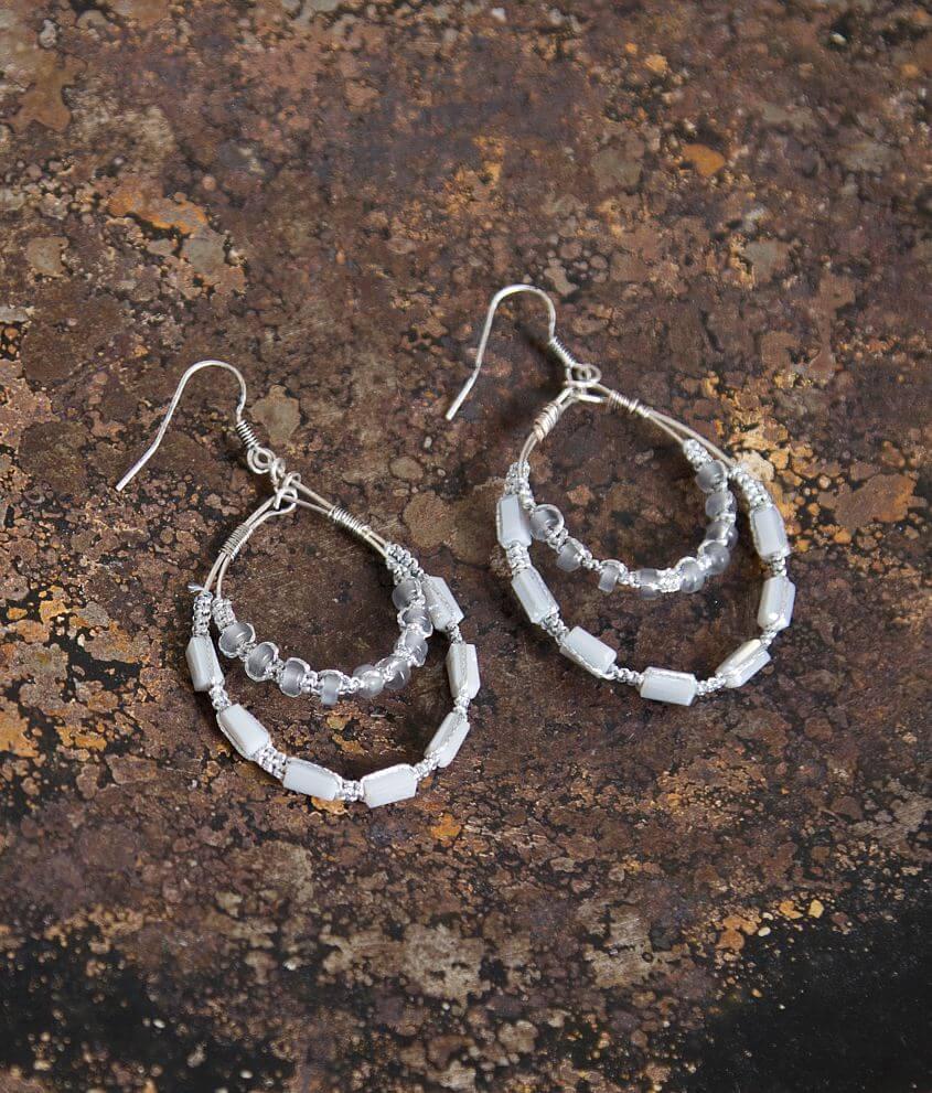 BKE Beaded Earring front view
