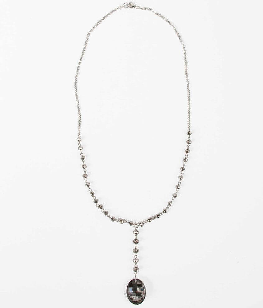 BKE Oval Pendant Necklace front view