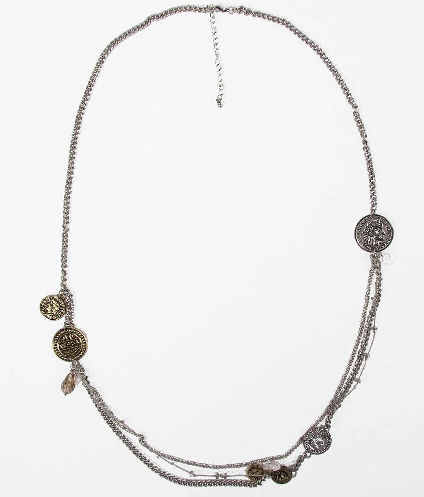 BKE Bead & Coin Necklace front view