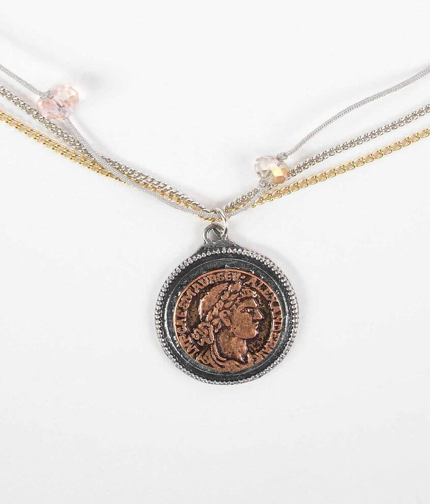 Daytrip Coin Necklace front view