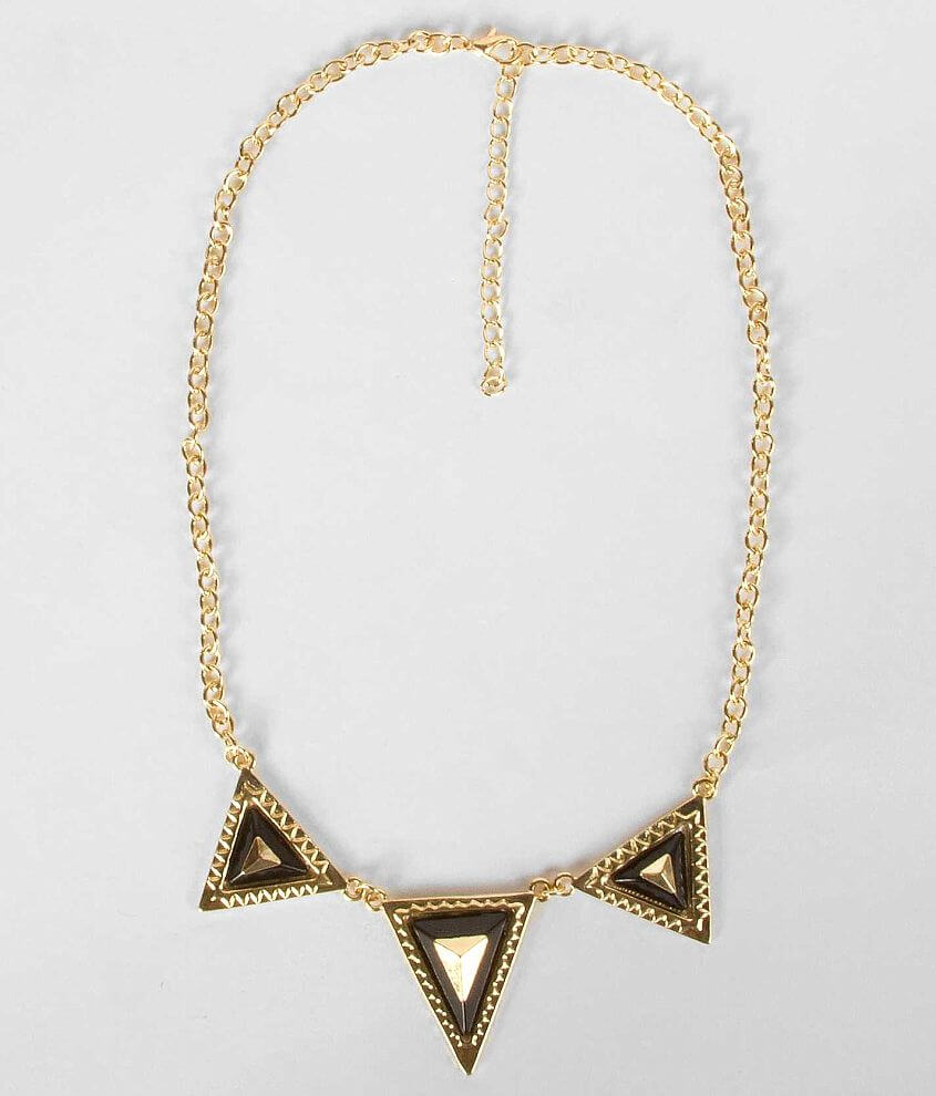 BKE Triangle Chain Necklace front view