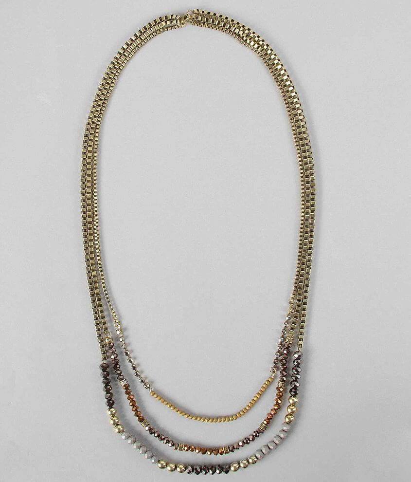 BKE Box Chain Necklace front view