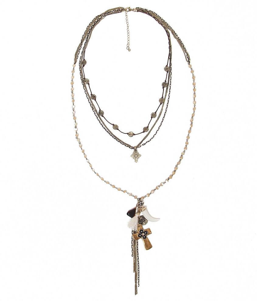 BKE Cross Necklace front view