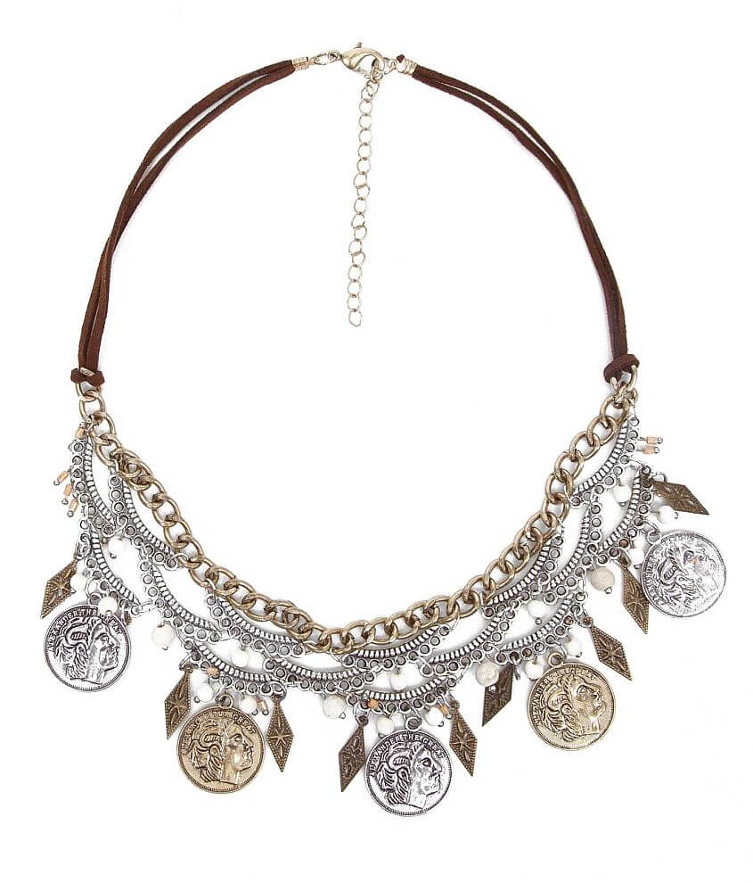 BKE Coin Statement Necklace front view