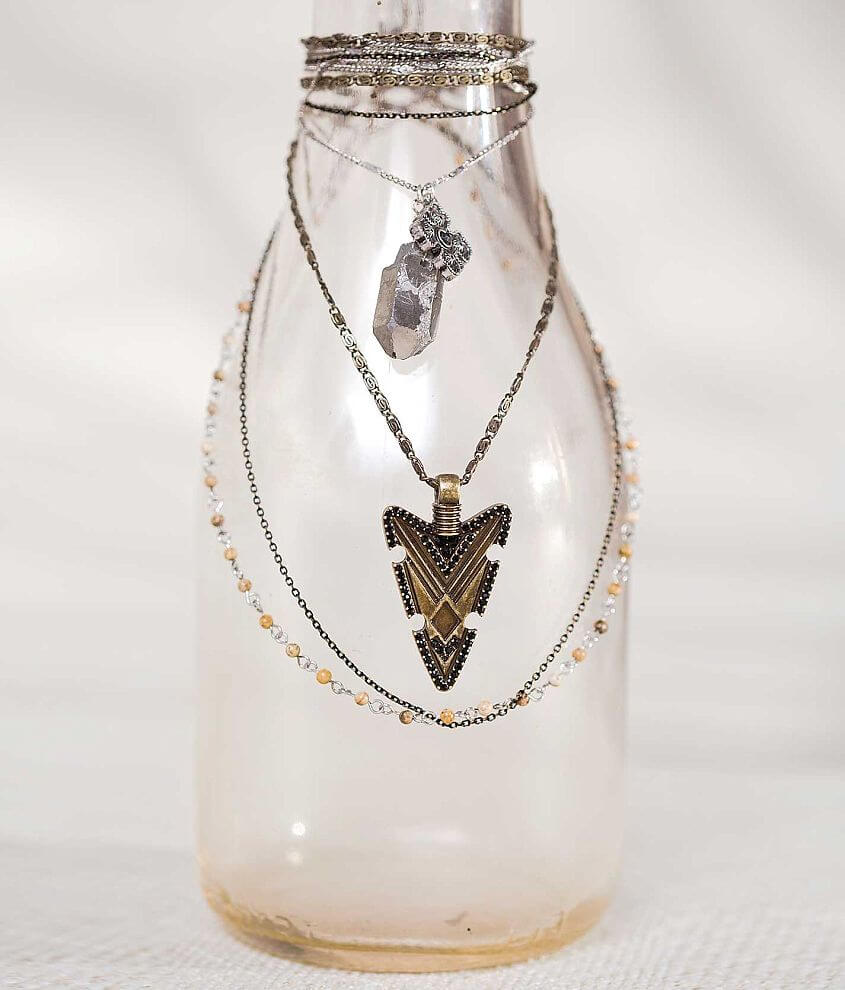 Gimmicks by BKE Tiered Necklace front view