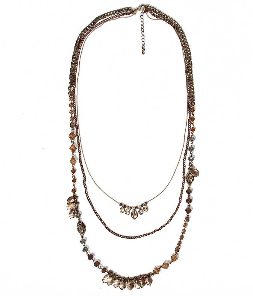 BKE Leaf Necklace front view