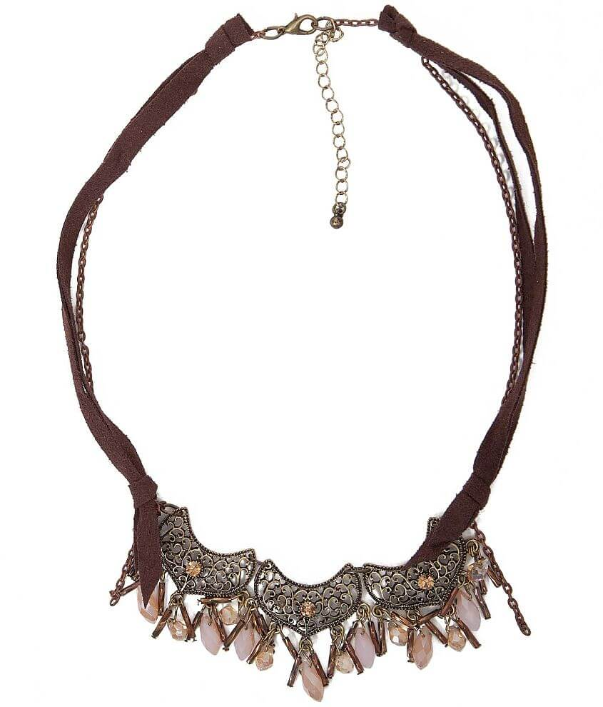 Festive Statement Necklace front view