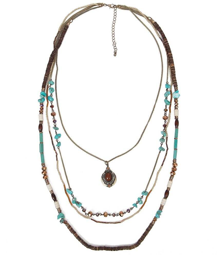 BKE Mixed Bead Necklace front view