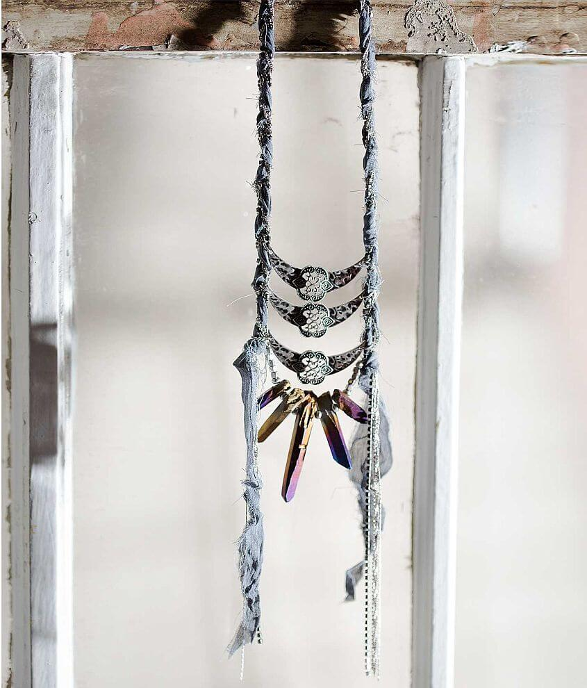 Gimmicks by BKE Chain Wrapped Necklace front view