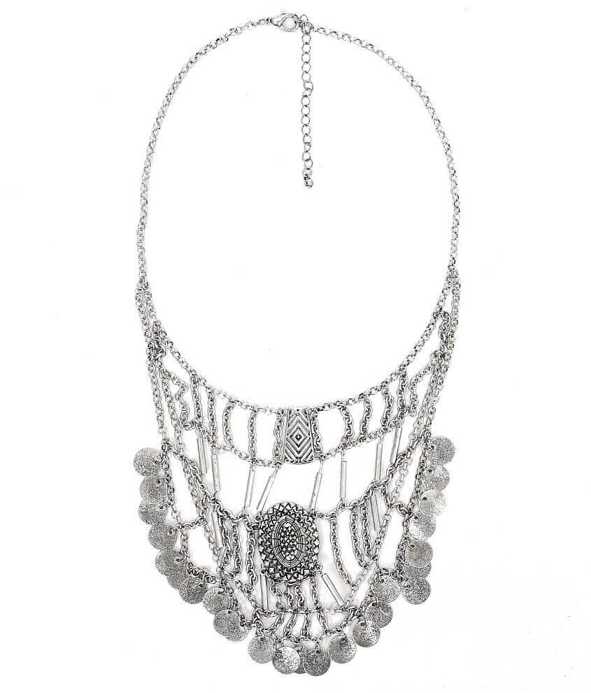 Festive Engraved Pendant Necklace front view