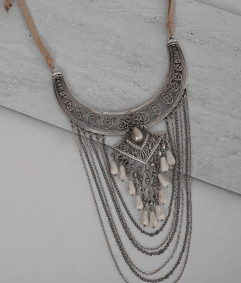 Festive Cut-Out Necklace front view